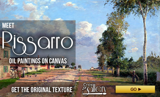 Pissarro's oil paintings on canvas